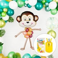 동물 풀바디 헬륨풍선 만들기세트 [원숭이] (헬륨통 포함)