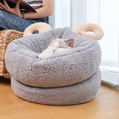 고양이집 고양이 양뿔 숨숨집 하우스 고양이쿠션 고양이매트