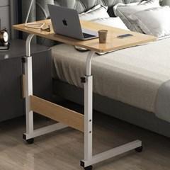 침대 쇼파 이동식 사이드 테이블 높이조절 80x40