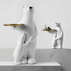 북극곰 모자 대형 협탁 사이드테이블 트레이포함