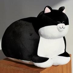식빵뚱냥 고양이 인형 - 턱시도