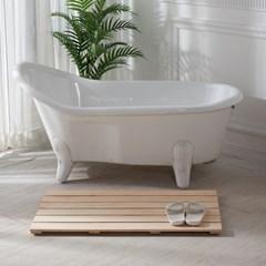 편백나무 고급 통원목 와이드 욕실발판 (대) 1050x440