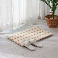 편백나무 고급 통원목 와이드 욕실발판 (소) 630x440