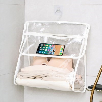 욕실 수건 방수백 속이비치는 걸이형 수납저장백