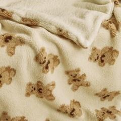 양털 극세사 담요 고미 - 크림