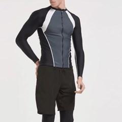 남성 남자 래쉬가드 비치웨어 수영복 긴팔 집업 자켓