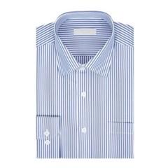 남성 긴팔 셔츠 와이셔츠 스트라이프 신사복라인 블루