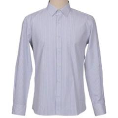남성 긴팔 셔츠 와이셔츠 베이직 스트라이프 연회색