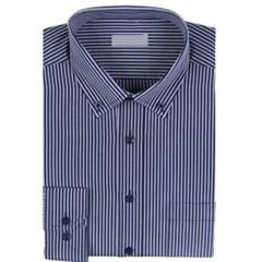 남성 긴팔 셔츠 남방 와이셔츠 네이비 스트라이프
