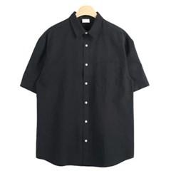 남성 남자 데일리 셔츠 남방 반팔 옥스포드