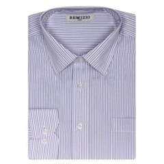 남성 긴팔 셔츠 남방 와이셔츠 3중 스트라이프 베이직