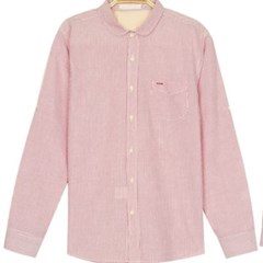 남성 긴팔 셔츠 남방 와이셔츠 롤업 스트라이프
