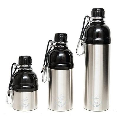 강아지 산책물통 롱포우즈 휴대용 물병 500ml 물그릇