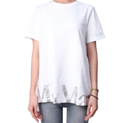 21FW S막스마라 OCCHIO 로고 프린팅 티셔츠 (화이트) OCCHIO 006 WHI