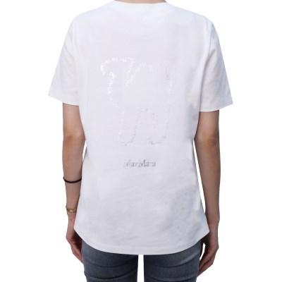 21FW S막스마라 OCCHIO 로고 프린팅 티셔츠 (화이트) OCCHIO 005 WHI