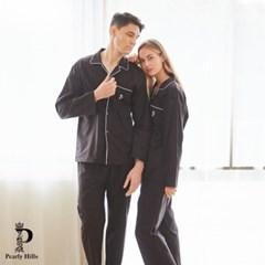 7026 블랙 긴소매 남여 커플잠옷