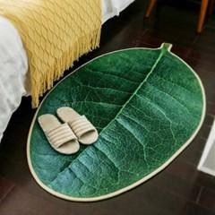 싱그러운 나뭇잎 카페트 러그 매트 중소형