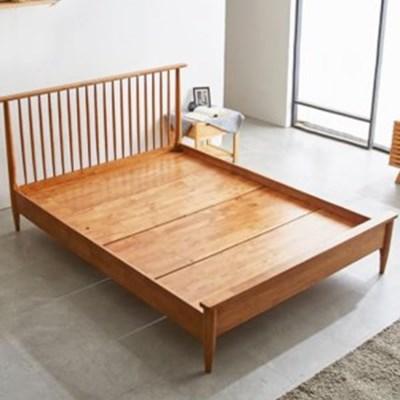 까르엠가구 마티니 고무나무 원목 침대 프레임 Q