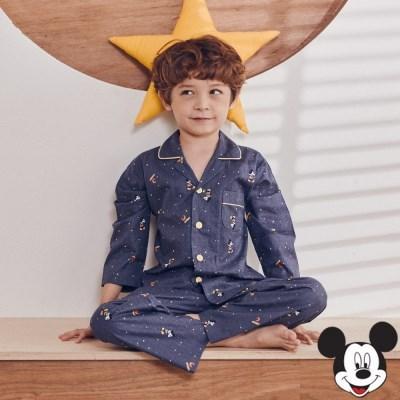 디즈니 캐릭터잠옷 미키마우스 남아파자마 순면 긴팔 홈웨어세트