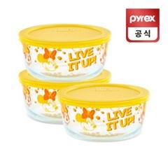 코렐 파이렉스 미니마우스 리미티드 용기 레몬 3p세트