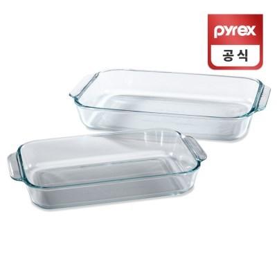 코렐 파이렉스 베이직 베이킹 디쉬 오븐용기 2p세트
