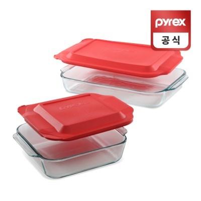 코렐 파이렉스 베이킹 플래터 디쉬 오븐용기 2p세트