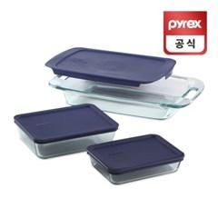 코렐 파이렉스 이지그랩 블루 베이크 디쉬 3p세트
