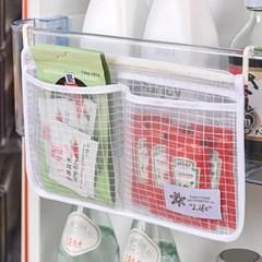 냉장고 소스정리 미니포켓 틈새수납 메쉬포켓 2개