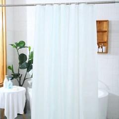 심플 솔리드 PEVA 안티곰팡이 욕실 샤워 커튼