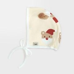 [메르베] 산타멍멍 아기모자/보넷/비니_겨울용