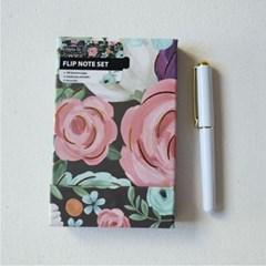 Lang Eliza todd작가그림 플립노트펜세트(shphisticated florals)