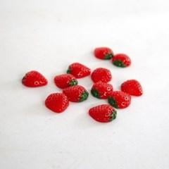 미니 반쪽 딸기 모형 10P (3cm)