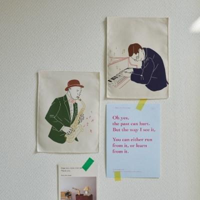미니 포스터 / 패브릭 포스터_jazz/재즈 A (4종세트)
