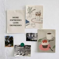 미니 포스터 / 패브릭 포스터_home cafe/홈카페 (4종세트)