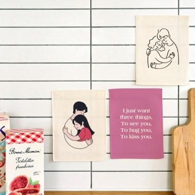 미니 포스터 / 패브릭 포스터_hug (4종세트)