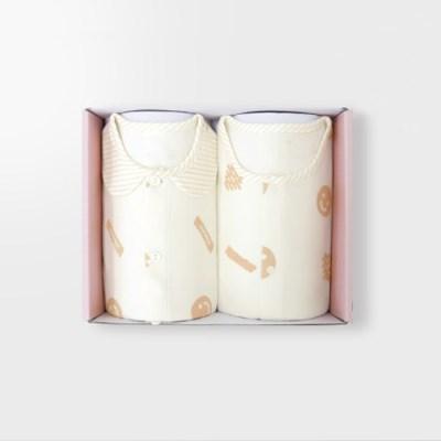 [메르베] 해쉬브라운 아기 돌선물세트(내의+수면조끼)_겨울용