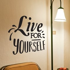 live for yourself 감성 레터링 인테리어 스티커