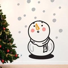 눈이 신기한 아기눈사람 겨울 인테리어 스티커