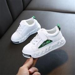 유아 아동 컬러 포인트 벨크로 운동화 키즈 신발 J