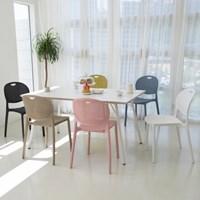 더조아 보니체어 매트한 색감 6가지 플라스틱 컬러 의자