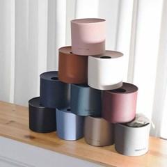 모노 가죽 원형 휴지 케이스 - 5color