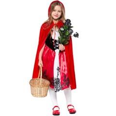 할로윈 파티 아동 빨간 망토 파티 의상 코스튬 분장 H