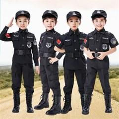 할로윈 아동 의상 코스프레 코스튬 특수 경찰 제복 H