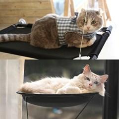 창문 부착 공중 고양이해먹 튼튼한 윈도우 해먹