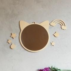 사슴 원목 아크릴 안전거울 유아 아이방 벽거울