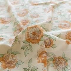 [Fabric] 오리엔탈 옐로우 피오니 린넨