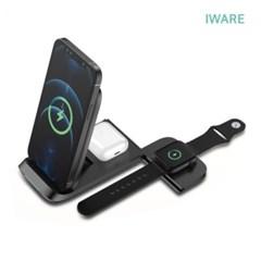 iwhere 올인원 무선 고속충전기 충전패드 갤럭시 애플 워치 동시충전