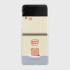 gummy toast Z플립3 클리어하드케이스