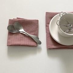 워싱 핑크 테이블 매트