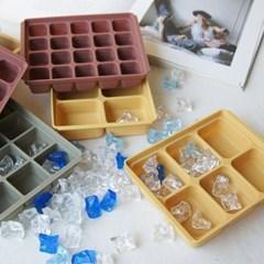 플래티늄 실리콘 아이스트레이 얼음틀 2개 세트 (3type)